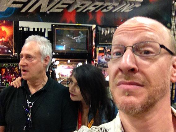 Brent Spiner and Marinia Sirtis at Comic Con