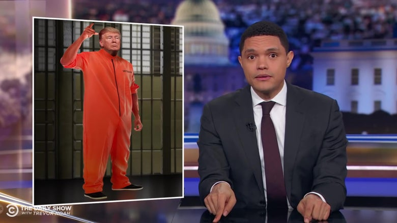 Trevor Noah finds the hidden downside to prosecuting Trump: We'd have to see him in a prison jumpsuit.