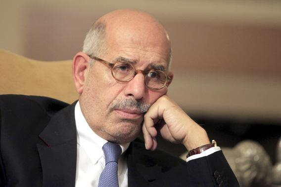 National reformist campaigner, and previous leader of the International Atomic Energy Agency, Mohamed El-Baradei speaks during an interview in his Cairo home November 24, 2012.
