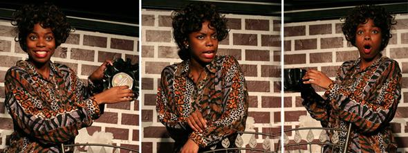 "Sasheer Zamata at ""Overload the Machine"", a monthly comedy show at The People's Improv Theater."