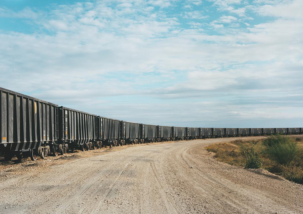 Untitled (Rail yard), near Cotulla, Texas, 2012