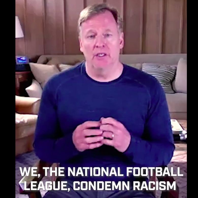 """Roger Goodell says """"We, the National Football League, condemn racism"""""""