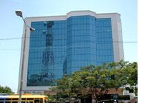Glass towers in Pondicherry