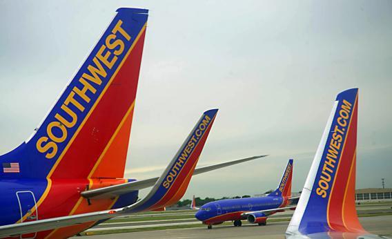 Southwest Airlines passenger planes
