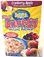 Morning Spark Cranberry Apple Natural Energy Instant Oatmeal