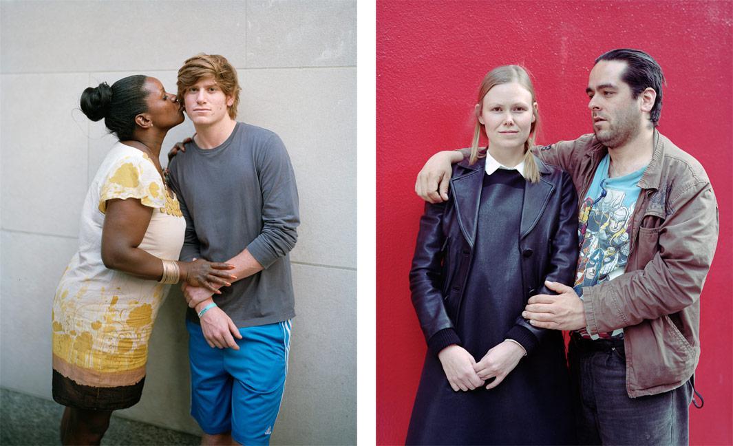Left: Kiya and Simon, 2012, New York, NY Right: Heather and Johnny, 2012, San Francisco, CA