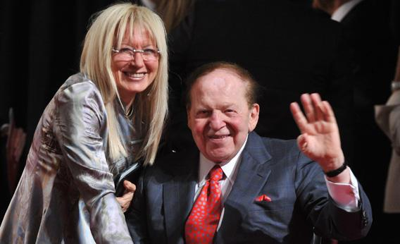 US business magnate Sheldon Adelson and his wife Miriam Ochsorn.