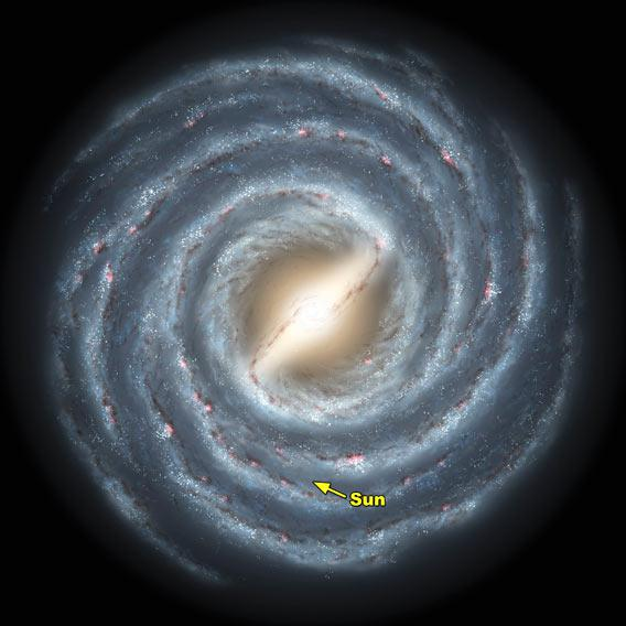 Map of the Milky Way galaxy