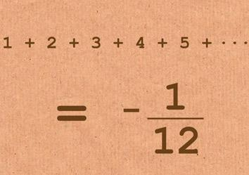 Infinite series: When the sum of all positive integers is a small negative fraction.