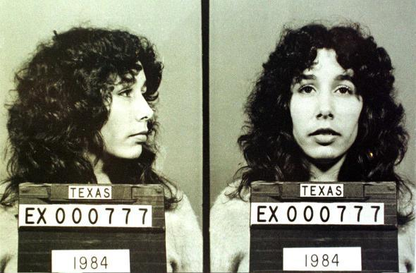 Karla Faye Tucker, shown after being convicted in 1983 of the sl