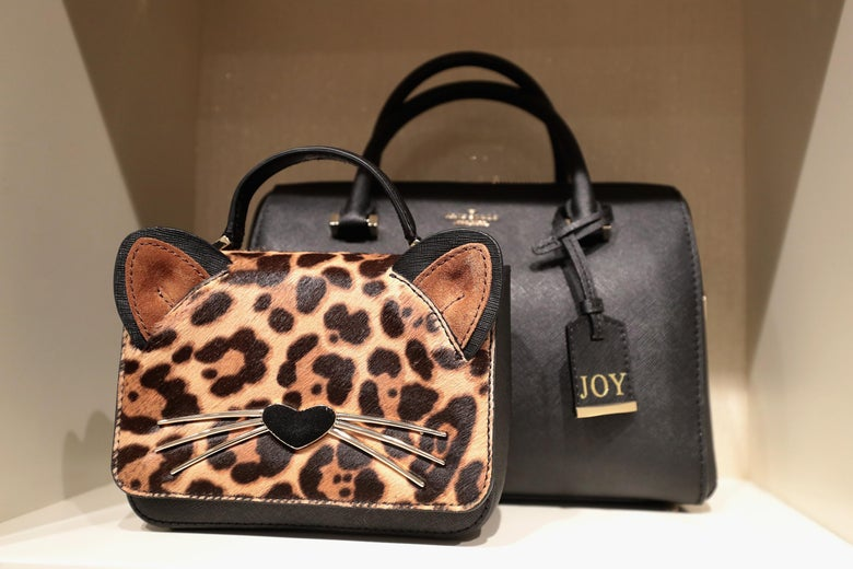 Kate Spade Bags On Display At The Leopard Pop Up Hosted By