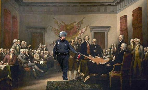 Pepper Spraying Cop meme.