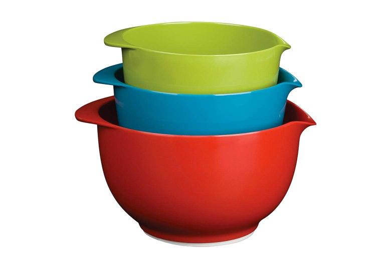 Mixing bowls.