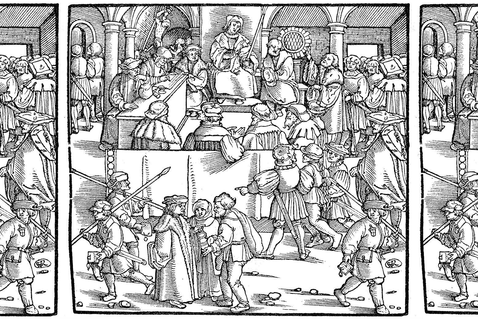 A medieval scene.