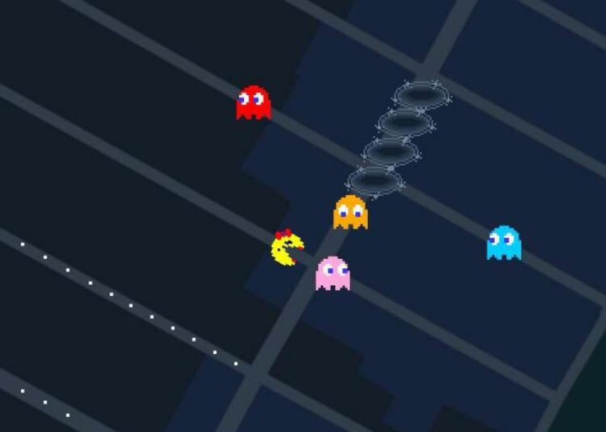 Play Ms. Pac-Man on Google Maps now as an April Fools' Day treat. Google Map Play on