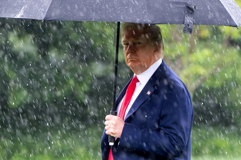 President Donald Trump walks to Marine One as he departs from the South Lawn of the White House on June 11, 2020.