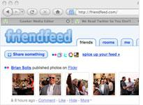 Screenshot of FriendFeed. Click image to expand.