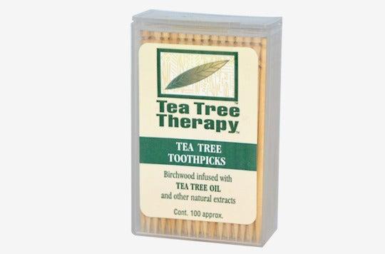 Tea Tree Therapy Toothpicks.