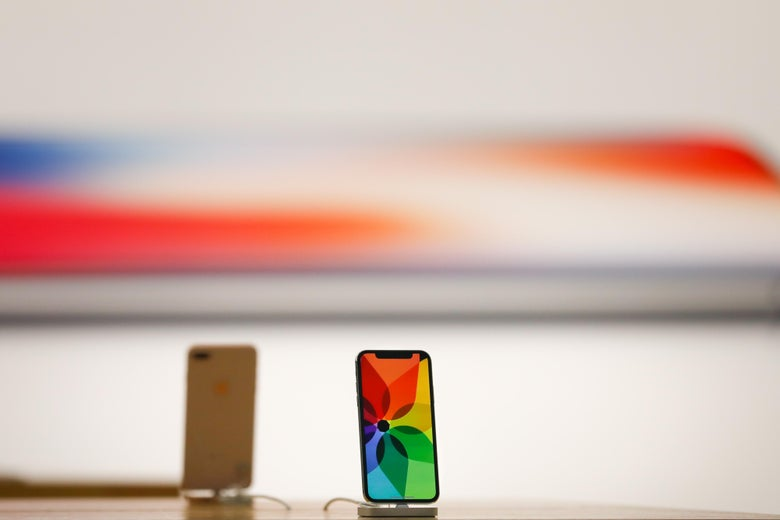 The new iPhone X is seen in the Apple Store Union Square prior to launch on November 3, 2017, in San Francisco, California. Apple's iPhone X hit stores around the world Friday, drawing crowds in many locations and protests in others as the new flagship device hit stores in some 50 markets worldwide. / AFP PHOTO / Elijah Nouvelage        (Photo credit should read ELIJAH NOUVELAGE/AFP/Getty Images)