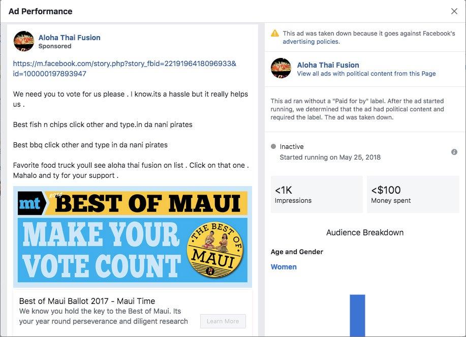 Aloha Thai Fusion ad