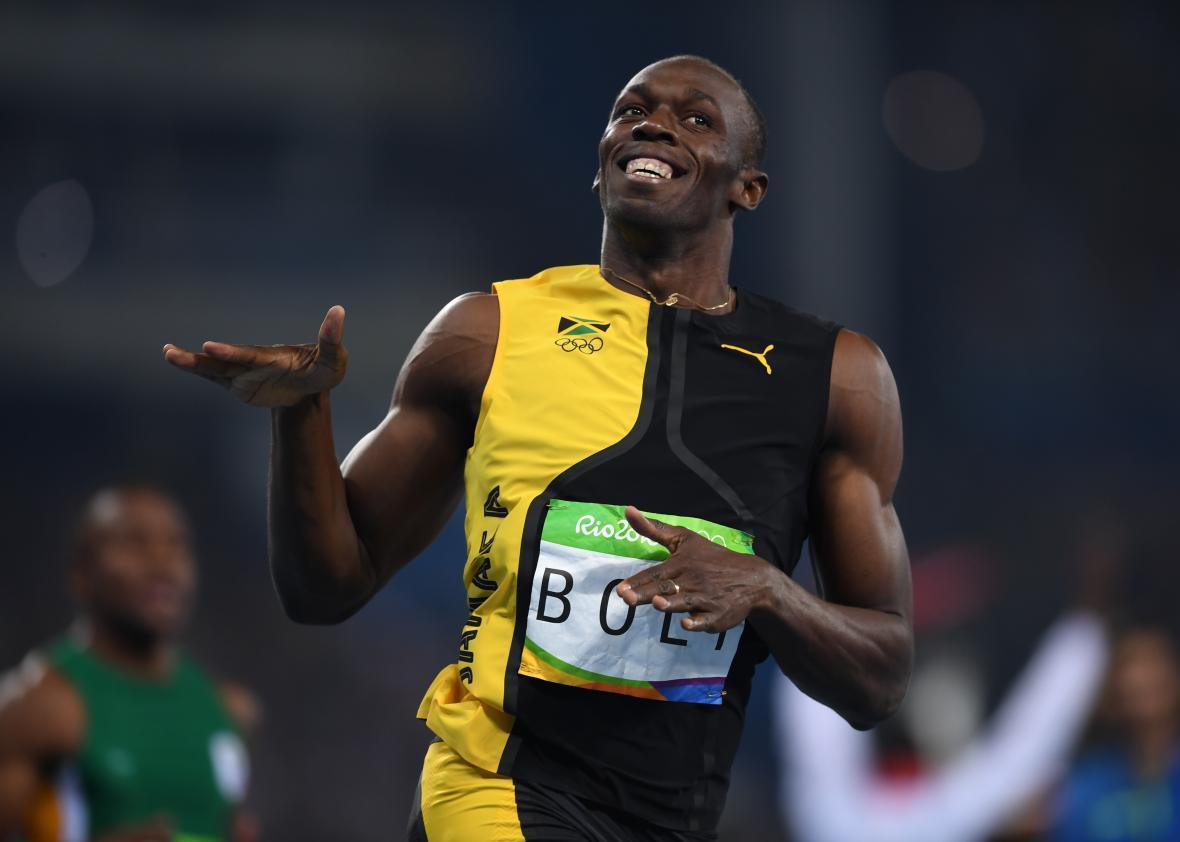 Usain Bolt won the 100-meter dash at the Rio Olympics ...