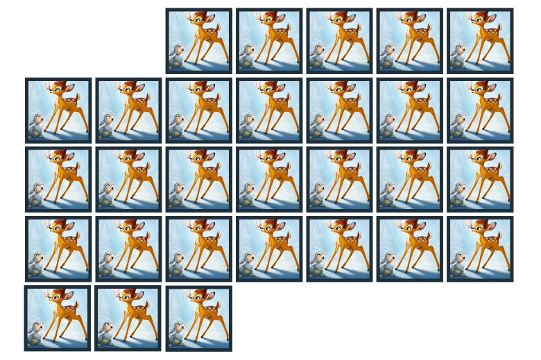 Image from Bambi, repeated many times.