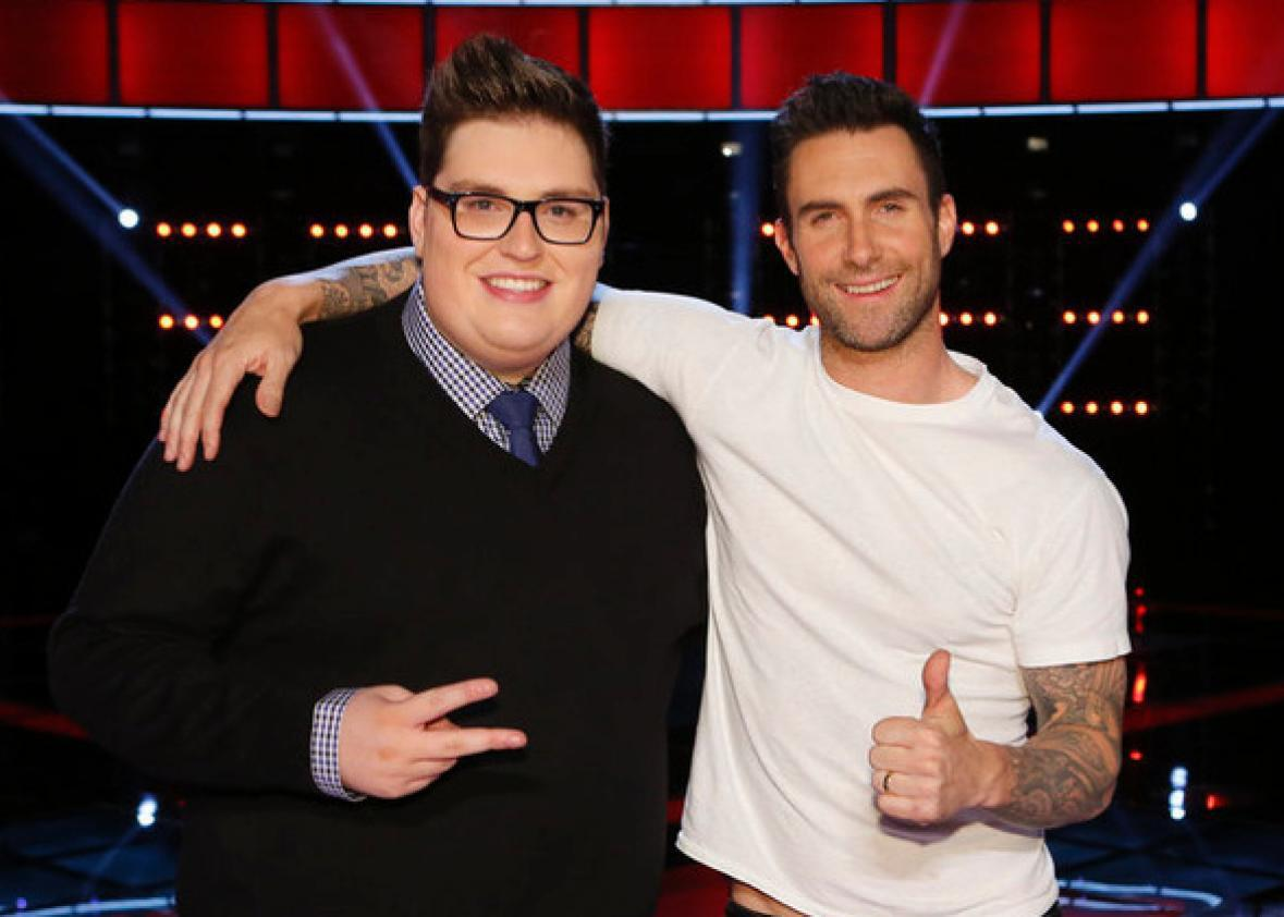 Jordan Smith, Adam Levine on The Voice.