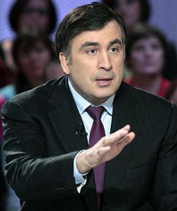 Georgian President Mikhail Saakashvili. Click image to expand.