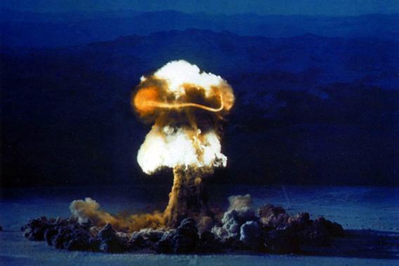 US Nuclear device (bomb) test 'Priscilla' 24 June 1957.