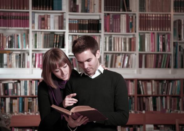 Graduate student couple.