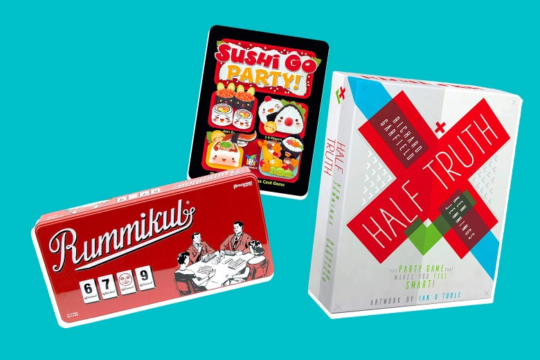 Rummikub, Sushi Go Party!, and Half Truth