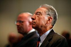 Senate Finance Committee Ranking Member Sen. Charles Grassley (R-IA) (R). Click image to expand.