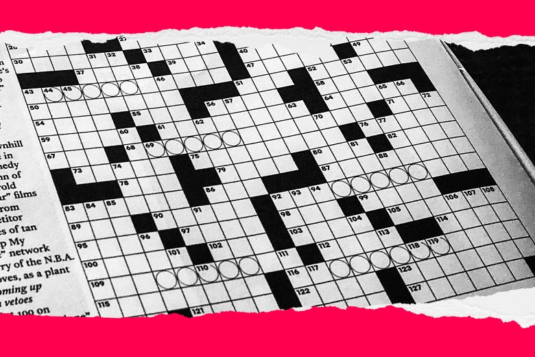 A crossword puzzle.