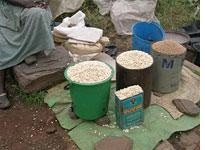 Black-market maize on sale in Harare
