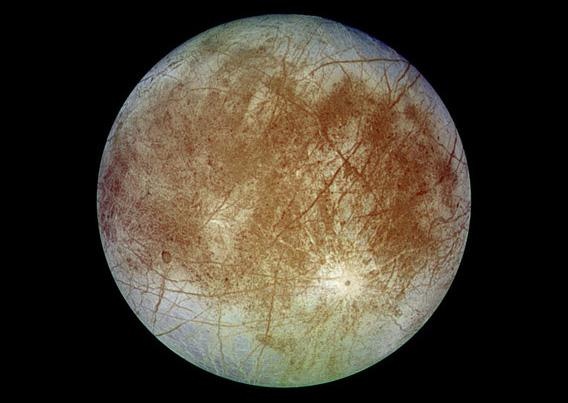 Europa, a moon of Jupiter, as seen by the Galileo spacecraft