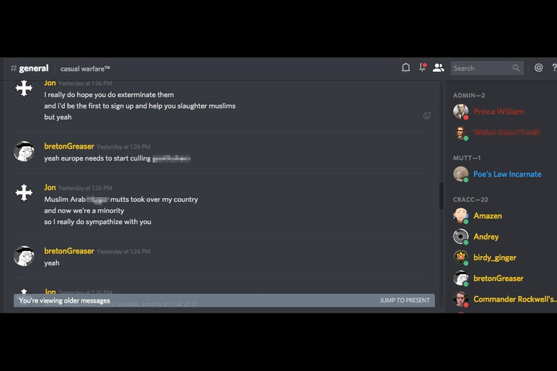 Screenshot from a Discord board