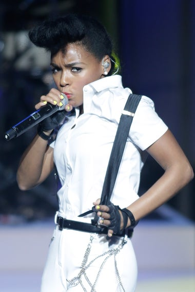 Honoree Janelle Monae performs onstage at the Variety Breakthrough of the Year Awards during the 2014 International CES at The Las Vegas Hotel & Casino on January 9, 2014 in Las Vegas, Nevada.