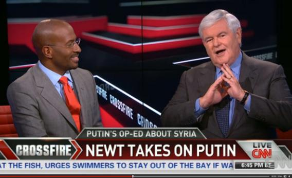 Van Jones and Newt Gingrich on CNN's Crossfire.