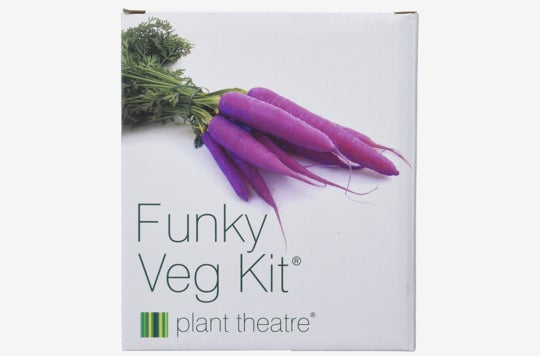 Plant Theatre Funky Veg Kit Gift Box.