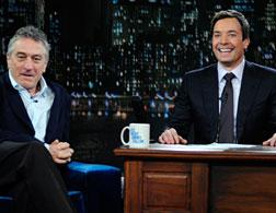 Robert DeNiro and Jimmy Fallon on Late Night With Jimmy Fallon. Click image to expand.