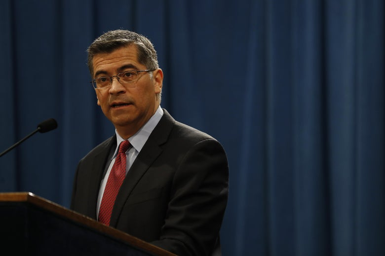 California Attorney General Xavier Becerra at the California State Capitol