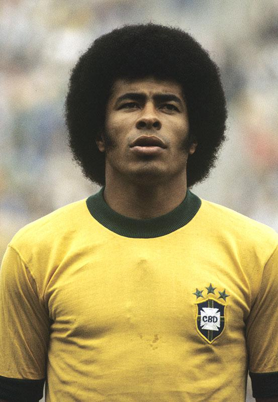 Jairzinho during the FIFA World Cup match between Zaire and Brazil on June 22, 1974 in Germany.