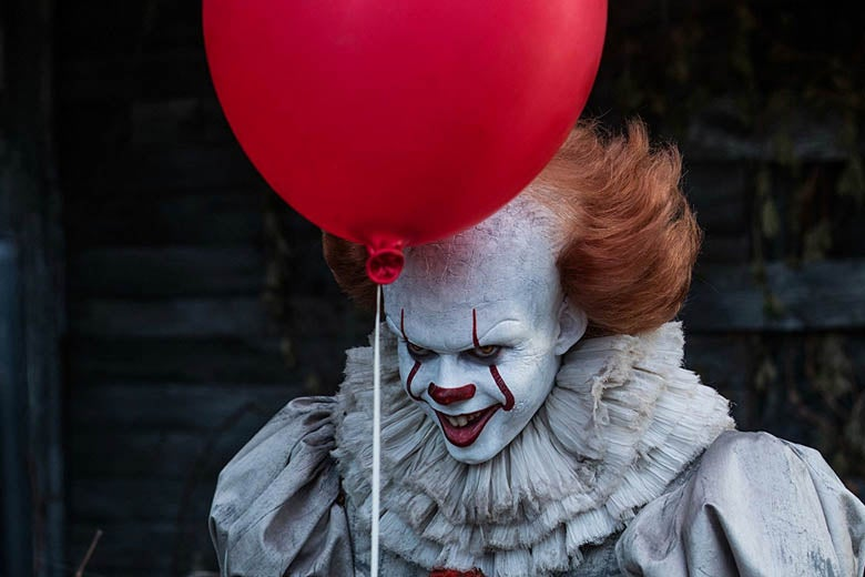 Bill Skarsgard as Pennywise in It.