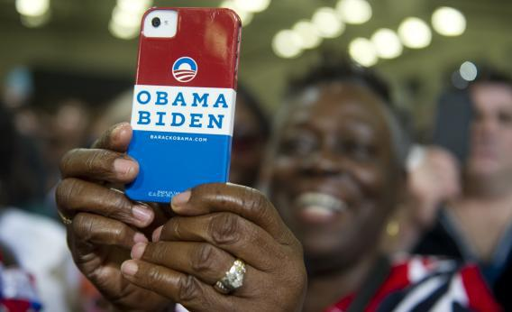 Another mobile phone user for Obama
