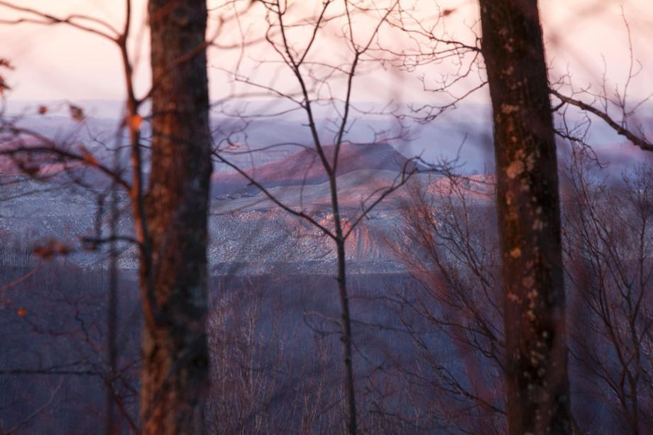 Sunset on Coal River Mountain