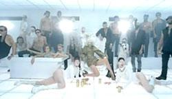 Still from Lady Gaga's video Bad Romance.