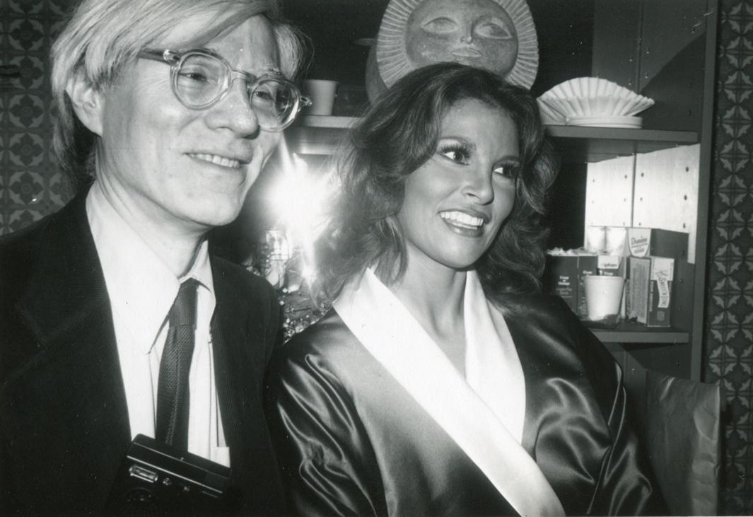 Andy Warhol Backstage with Raquel Welch, Interview Cover Girl, After Her Performance in Broadway's Woman of the Year, 1981