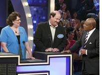 Phyllis Smith, Brian Baumgartner, and Al Roker in Celebrity Family Feud. Click image to expand.