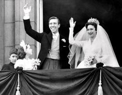 Princess Margaret on her wedding day. Click image to expand.