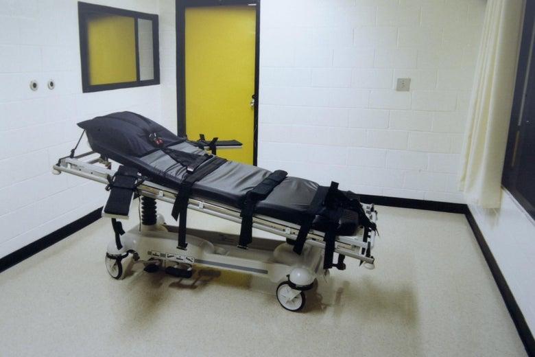 The death chamber at the Georgia Diagnostic Prison in Jackson, GA.